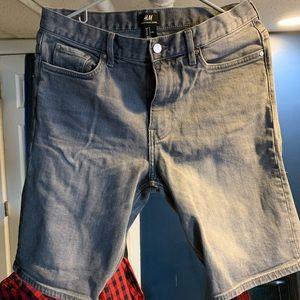 H&M Grey Denim Shorts